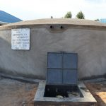The Water Project: Malinda Secondary School -  Completed Rain Tank With Water Flowing