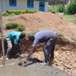 The Water Project: Malinda Secondary School -  Rain Tank Foundation Work