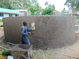 The Water Project:  Exterior Tank Plastering
