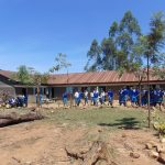 The Water Project: Ivakale Primary School & Community - Rain Tank 2 -  Students On School Grounds