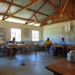 The Water Project: Ivakale Primary School & Community - Rain Tank 2 -  Teachers At Work In The Staff Room