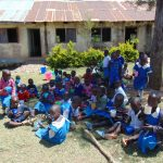 The Water Project: Ivakale Primary School & Community - Rain Tank 2 -  Pupils Have A Snack