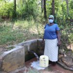 The Water Project: Shihingo Community, Mulambala Spring -  Margaret At The Water Point