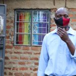 The Water Project: Emachembe Community, Hosea Spring -  Henry With His Mask On