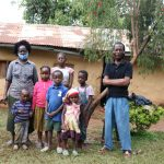 The Water Project: Hirumbi Community, Khalembi Spring -  Alice With Her Family