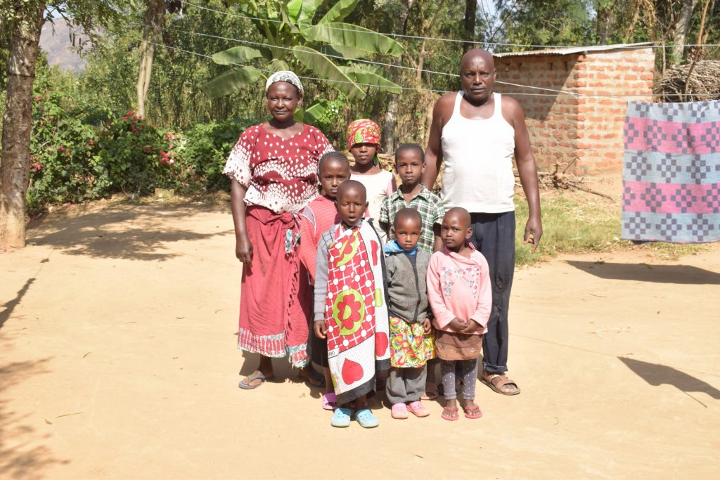 The Water Project : covid19-kenya19210-katethya-mutheki-husband-grand-children-2