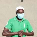 The Water Project: Mahira Community, Kusimba Spring -  Mr Kusimba With A Face Mask On