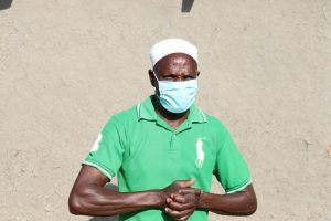 The Water Project:  Mr Kusimba With A Face Mask On