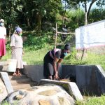 The Water Project: Mahira Community, Kusimba Spring -  Social Distancing At The Spring
