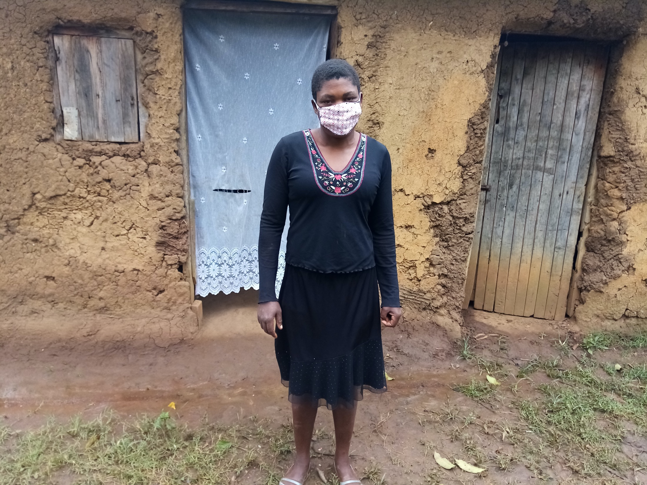 The Water Project : covid19-kenya4107-nanjira-melvin-wearing-a-face-mask