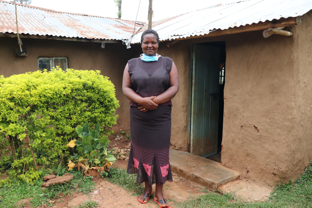 The Water Project : covid19-kenya4711-a-smiling-ms-rosemary-makanji