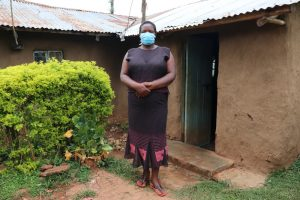 The Water Project:  Rosemary Makanji Outside Her Home