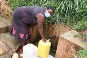 The Water Project:  Rosemary At Isaac Spring Fetching Water