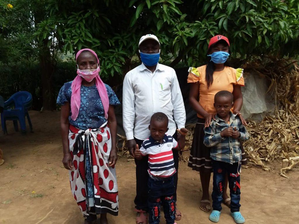 The Water Project : covid19-kenya4782-sebastian-mumo-and-his-family-2