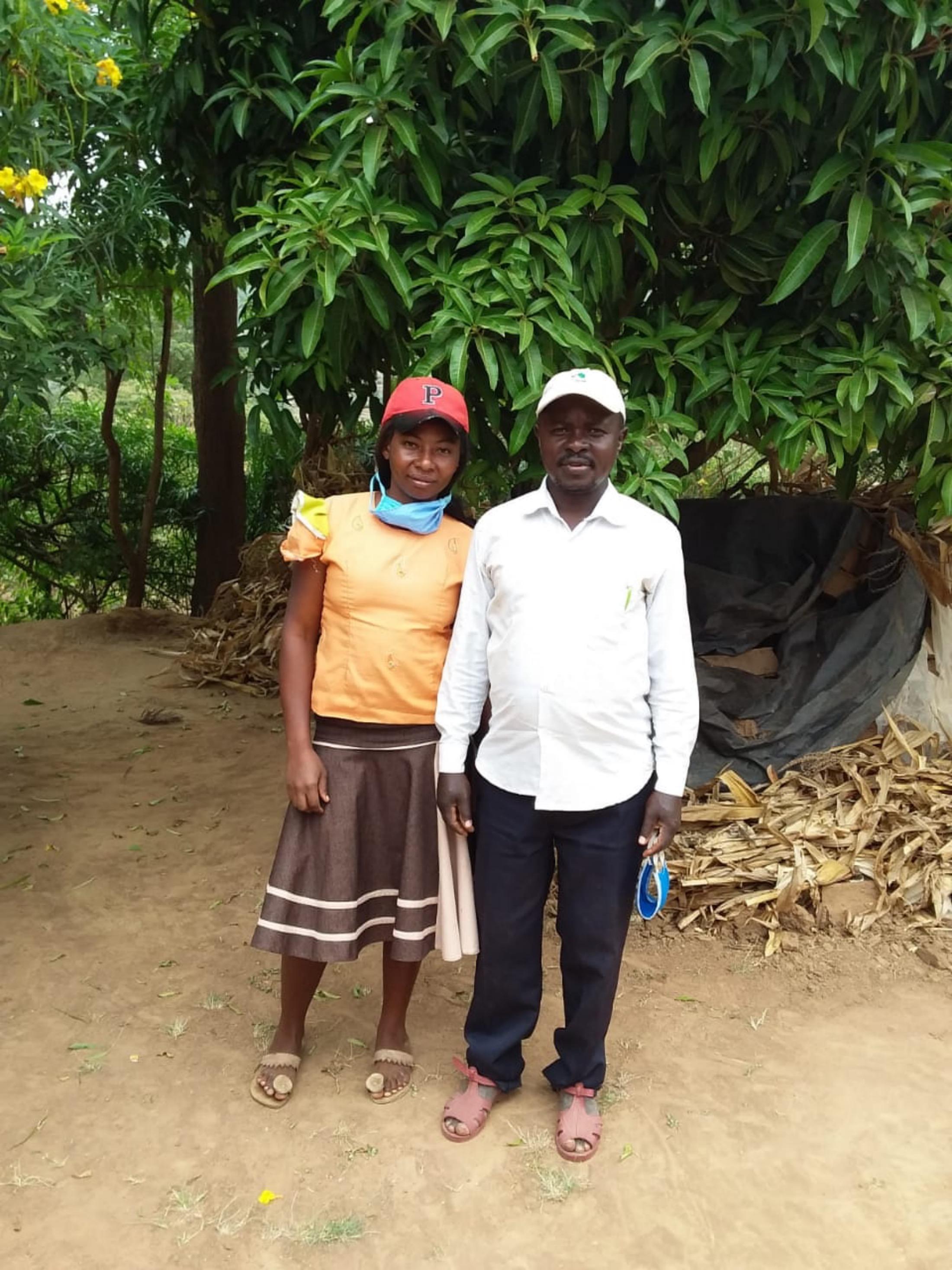 The Water Project : covid19-kenya4782-sebastian-mumo-and-his-wife-2