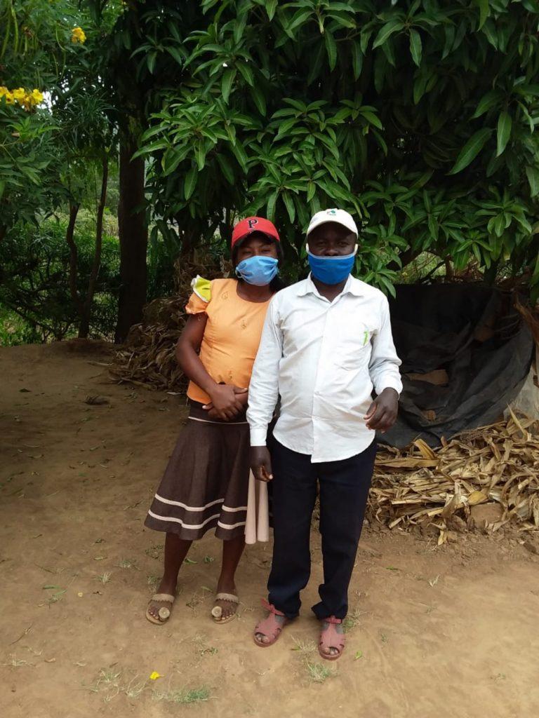 The Water Project : covid19-kenya4782-sebastian-mumo-and-his-wife-3