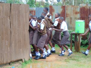The Water Project:  Girls Scram At The Latrines
