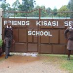 The Water Project: Friends Kisasi Secondary School -  Students At The School Gate