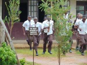 The Water Project:  Students Running To The Latrines