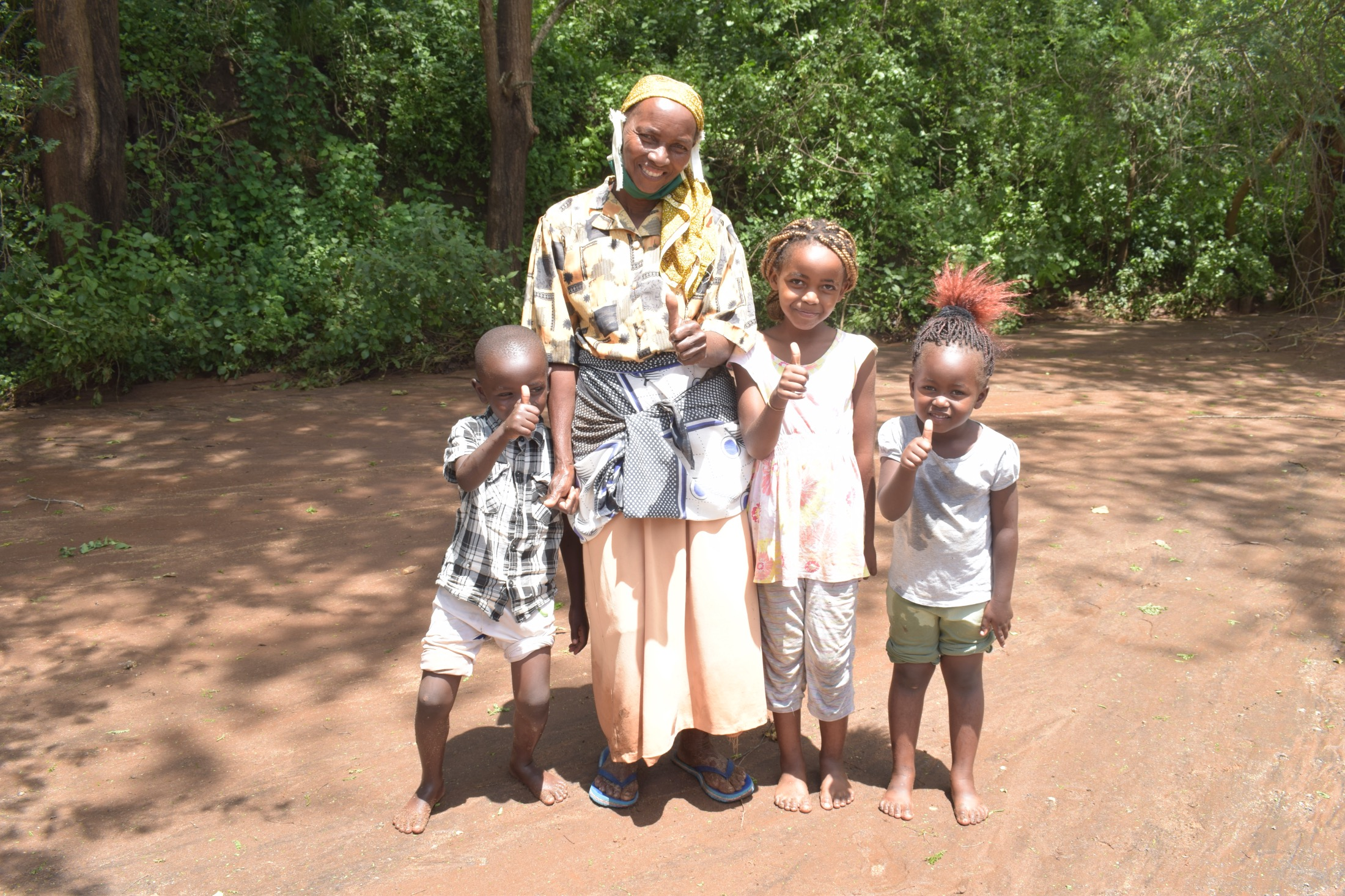 The Water Project : kenya19198-mary-mbilu-with-grandchildren-1