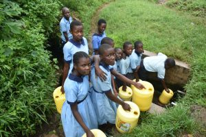 The Water Project:  Students Collecting Water At Spring