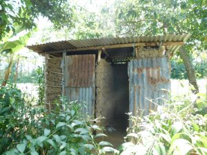 The Water Project:  Bathing Shelter And Latrine