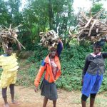The Water Project: Emutetemo Community, Lubale Spring -  Collecting Firewood For Cooking