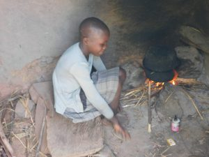 The Water Project:  A Girl Helps To Prepare Lunch For Her Family