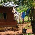 The Water Project: Mukhweso Community, Shemema Spring -  Clothesline