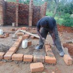 The Water Project: Kapkoi Primary School -  Latrine Foundation Setting