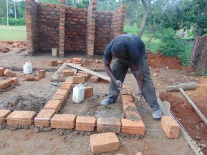 The Water Project:  Latrine Foundation Setting
