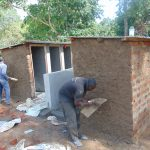 The Water Project: Kapkoi Primary School -  Latrine Outside Plaster