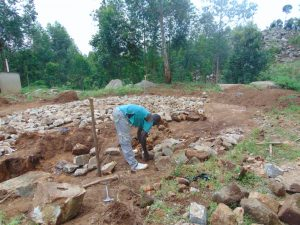 The Water Project:  Tank Foundation Laid With Stones