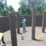 The Water Project: Kapkoi Primary School -  Pillar Plastering