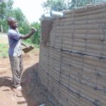 The Water Project: Kapkoi Primary School -  Tank Exterior Plastering