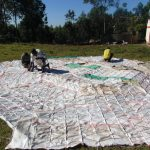 The Water Project: Kapkoi Primary School -  Knitting Sacks Onto Dome Wire