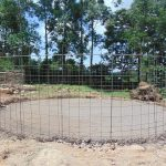 The Water Project: Boyani Primary School -  Setting Skeleton Wire