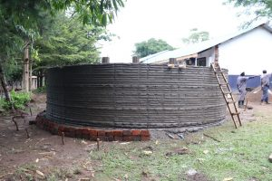 The Water Project:  Tank Ready For Exterior Plaster