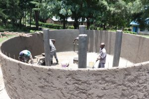 The Water Project:  Applying The Final Touches On The Inside Walls