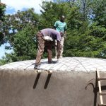 The Water Project: Friends School Shivanga Secondary -  Artisan Mr Evans Securing The Dome Frame