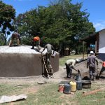 The Water Project: Friends School Shivanga Secondary -  Dome Construction Takes Teamwork