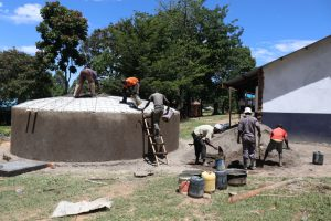 The Water Project:  Dome Construction Takes Teamwork