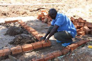 The Water Project:  Latrine Brickwork
