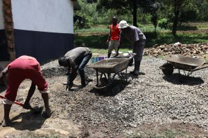 The Water Project:  Concrete Tank Foundation Mixture