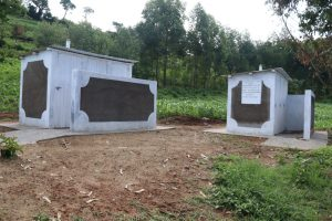 The Water Project:  The Two Blocks Of Vip Latrines At Shivanga Secondary