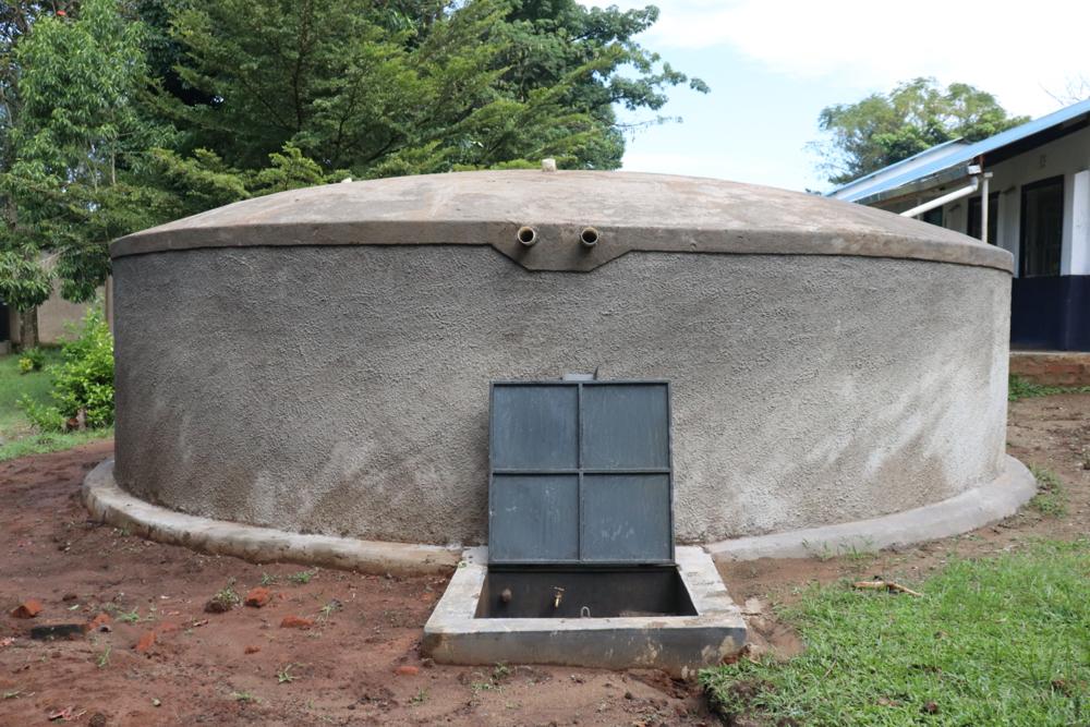 The Water Project : kenya20121-water-tank-at-shivanga-secondary-school
