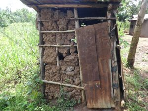 The Water Project:  A Mud Walled Latrine