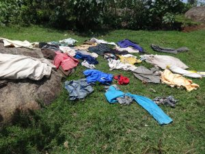 The Water Project:  Clothes Drying On Grass