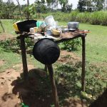 The Water Project: Shihome Community, Peter Majoni Spring -  Dishrack