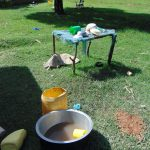 The Water Project: Indulusia Community, Yakobo Spring -  Dishrack